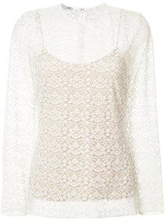 двухслойная кружевная блуза Stella McCartney