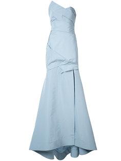 платье с деталью с запахом Monique Lhuillier