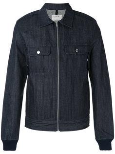 джинсовая куртка-рубашка на молнии A.P.C.