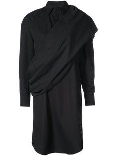 драпированное платье-рубашка Chalayan