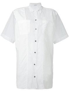 прозрачная рубашка с короткими рукавами Tomas Maier