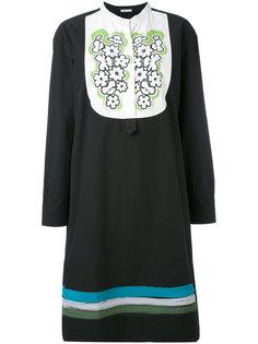 платье с вышивкой на нагруднике Tomas Maier