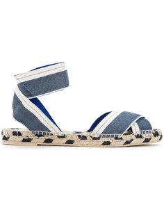 джинсовые сандалии на плетеной подошве  Stella McCartney