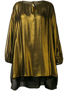 металлизированная блузка свободного кроя Mes Demoiselles