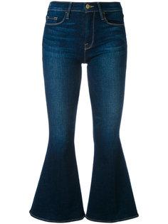 расклешенные укороченные джинсы  Frame Denim
