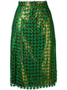 юбка с пайетками  Marco De Vincenzo