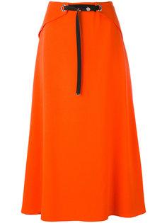 юбка миди с декоративным поясом Mugler