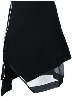 асимметричная юбка с контрастной окантовкой  Mugler