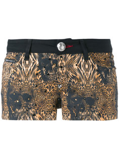 шорты с леопардовым принтом Philipp Plein