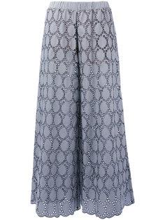 широкие брюки с вышивкой  Erika Cavallini
