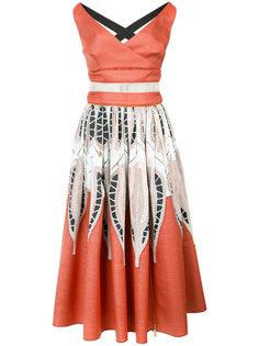 приталенное платье с панельным дизайном Sophie Theallet