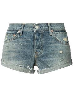 джинсовые шорты с эффектом поношенности Grlfrnd