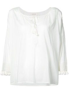 блузка с помпонами The Great
