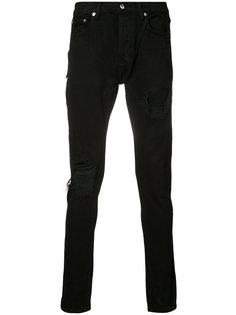 джинсы скинни с рваными деталями Mr. Completely