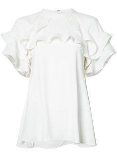 футболка с оборками на рукавах Rebecca Vallance