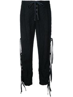 спортивные брюки с завязками Greg Lauren