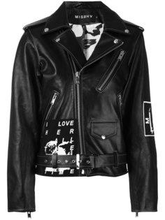 байкерская куртка с принтом Warszawa  Misbhv