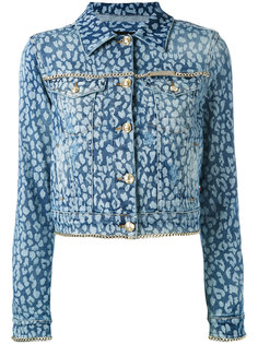 джинсовая куртка с животным принтом  Philipp Plein