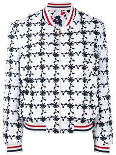 куртка-бомбер  с цветочной вышивкой Thom Browne