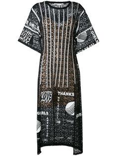 платье миди с принтом Thanks Girls Stella McCartney