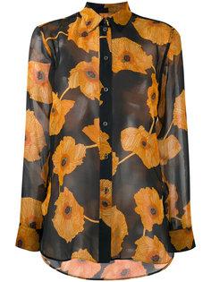 полупрозрачная рубашка с цветочным рисунком Paul Smith
