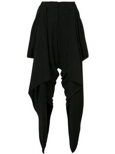 укороченные брюки с драпировкой Gareth Pugh