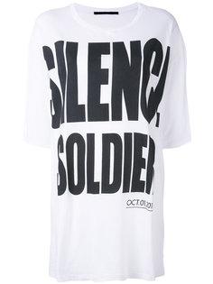 свободная футболка Silence is Golden Haider Ackermann