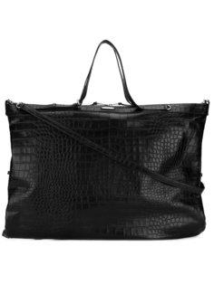 объемная сумка-тоут с эффектом крокодиловой кожи Saint Laurent