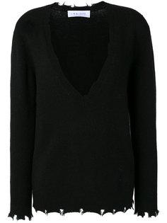 свитер с V-образным вырезом и необработанным краем  Iro