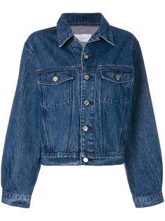 джинсовая куртка с оборкой  Iro