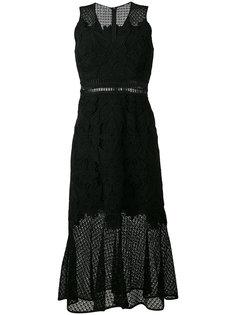 расклешенное кружевное платье без рукавов Jonathan Simkhai