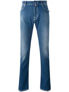 прямые джинсы с потертостями Jacob Cohen