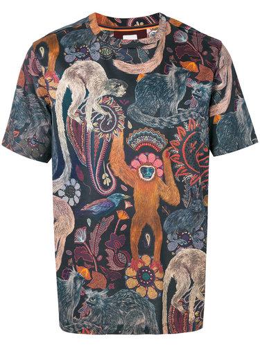 футболка с анималистическим принтом Paul Smith