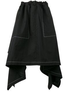 асимметричная драпированная юбка JW Anderson