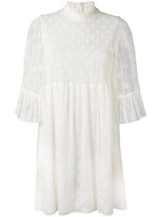 мини-платье с оборками на рукавах McQ Alexander McQueen