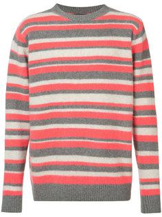 свитер с полосатым узором The Elder Statesman