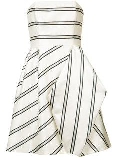 драпированное платье в полоску Halston Heritage