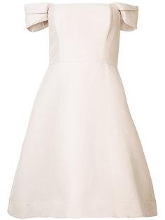 приталенное платье с открытыми плечами Halston Heritage