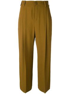 укороченные брюки со складками Lanvin