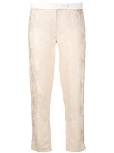 брюки с отделкой металлик Ann Demeulemeester