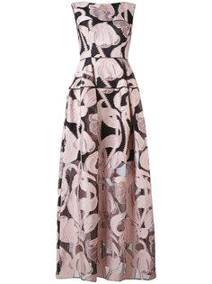 платье в пол Locomotion Talbot Runhof