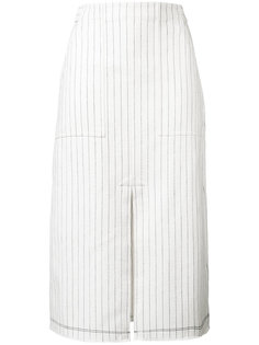 юбка в полоску с разрезом спереди T By Alexander Wang