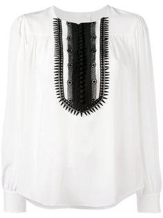 блузка с контрастной манишкой Chloé