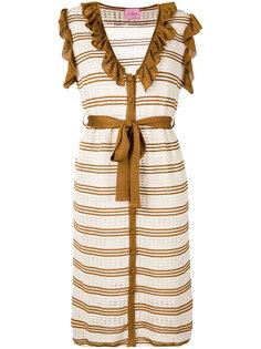 полосатое вязаное платье Denia