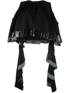 укороченная блузка с оборками Ellery