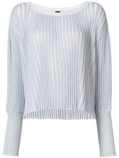 свитер в рубчик с эффектом металлик  Adam Lippes