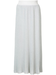 плиссированная юбка металлик  Adam Lippes