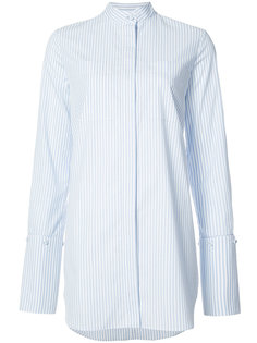 рубашка в полоску с воротником стойкой  Adam Lippes