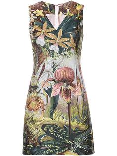платье мини с принтом  Adam Lippes