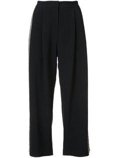 укороченные брюки с полосками сбоку  Adam Lippes